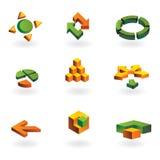 Colección de 9 elementos del diseño Imagen de archivo libre de regalías