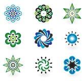 Colección de 9 elementos del diseño del vector Imágenes de archivo libres de regalías
