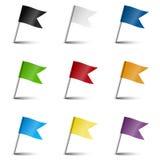 Colección de accesorios de la marca - banderas de la marca Imagen de archivo