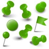 Colección de accesorios de la marca - verde Imagen de archivo libre de regalías