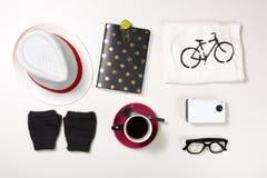 Colección de accesorios de la mujer Fotos de archivo libres de regalías