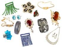 Colección de accesorios femeninos Imagenes de archivo