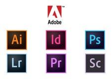 Colección de Adobe de logotipos ilustración del vector