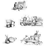 Colección de alimento Imagen de archivo
