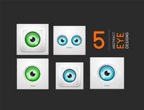 Colección de alta tecnología de los conceptos del vector del diseño del ojo Fotos de archivo libres de regalías