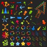 Colección de arrows8 Imagen de archivo
