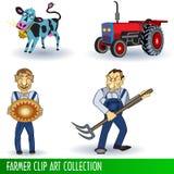 Colección de arte de clip del granjero Fotos de archivo