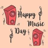 Colección de arte del vector del estilo de la tarjeta del día de la música