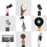 Colección de artilugios del ejemplo de la tecnología libre illustration