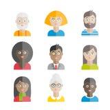Colección de avatares planos de la gente del vector Foto de archivo