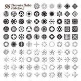 Colección de 96 balas decorativas ilustración del vector