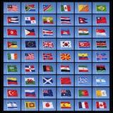 Colección de banderas del mundo Fotos de archivo libres de regalías