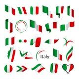 Colección de banderas del vector de Italia libre illustration