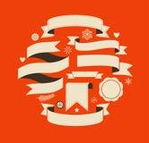 Colección de banderas retras del vintage de la Navidad libre illustration