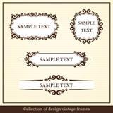 Colección de bastidores de la vendimia del diseño Foto de archivo libre de regalías