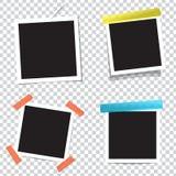 Colección de bastidores en blanco de la foto con efectos de sombra Fotos de archivo libres de regalías