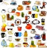 Colección de bebidas Imagen de archivo libre de regalías