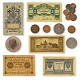 Colección de billetes de banco viejos Fotografía de archivo libre de regalías