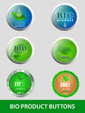 Colección de bio botones del producto, iconos Foto de archivo libre de regalías