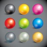 Colección de bolas coloridas Fotos de archivo libres de regalías