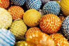 Colección de bolas de la Navidad Fotografía de archivo libre de regalías
