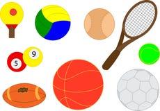 Colección de bolas realistas de los deportes Foto de archivo libre de regalías