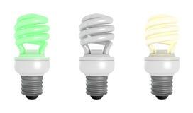 Colección de bombillas rendidas de CFL Imagen de archivo libre de regalías