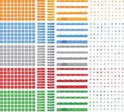 Colección de botón colorido brillante, iconos, menú para el vector del diseño web  Fotografía de archivo libre de regalías