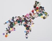 Colección de botones Imagen de archivo libre de regalías