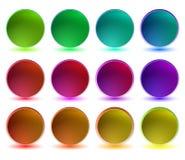 Colección de botones brillantes Imagen de archivo