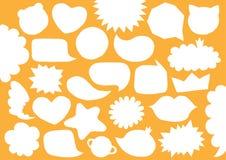 Colección de burbujas cortadas vacías del discurso del Libro Blanco del espacio en blanco del vector Formas de moda torcidas fija libre illustration