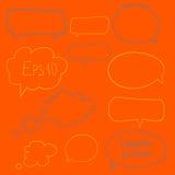 Colección de burbujas del discurso del vector Fotos de archivo