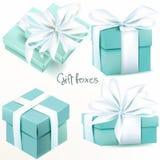 Colección de cajas de regalo realistas del vector stock de ilustración