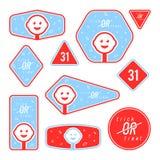 Colección de caramelo que mete tarjetas en diario ilustración del vector
