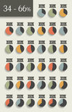 Colección de cartas infographic del círculo del porcentaje libre illustration