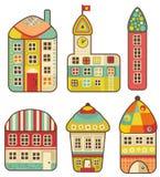 Colección de casas lindas. Foto de archivo libre de regalías