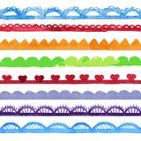 Colección de cepillos del vector de la acuarela. Imagen de archivo libre de regalías