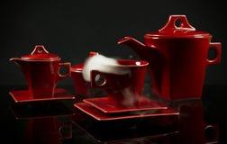Colección de cerámica del café Fotos de archivo