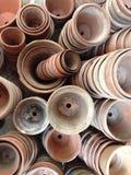 Colección de cerámica del jardín de los potes Fotos de archivo