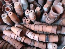 Colección de cerámica del jardín de los potes Foto de archivo