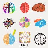 Colección de cerebro, creación e iconos y elementos de la idea Creati Foto de archivo