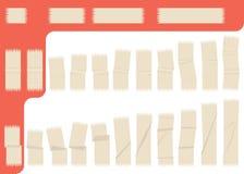 Colección de cinta adhesiva aislada Foto de archivo