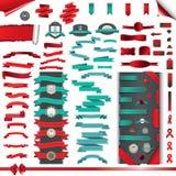 Colección de cintas, de etiquetas engomadas, rasgadas y de papel del abrigo Fotografía de archivo libre de regalías