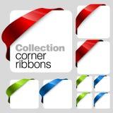 Colección de cintas de la esquina del vector Imagenes de archivo