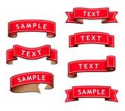Colección de cintas rojas Imágenes de archivo libres de regalías
