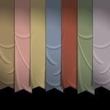 Colección de cintas verticales para el diseño Foto de archivo