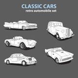 Colección de coches retros Fotos de archivo libres de regalías
