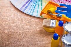 Colección de color de las herramientas y del pantone de la pintura Foto de archivo libre de regalías