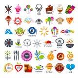 Colección de comida de los logotipos del vector Fotos de archivo
