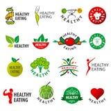 Colección de consumición sana de los logotipos del vector libre illustration